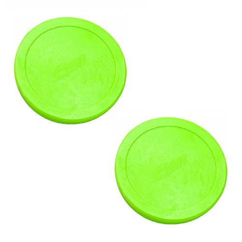 "2 Dynamo Brand 3.25"" Lg Green Hockey Air Pucks"