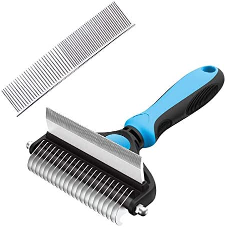 Pecco Dog Grooming Brush, 2 Sided Dog Brush & Cat Brush for Grooming, Pet Deshedding and Dematting Tool, Mats & Tangles Removing