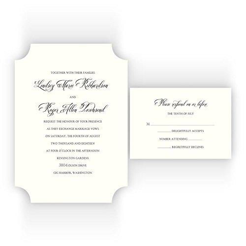 Amazon Com Ticket Shaped Printable Wedding Invitations On Specialty