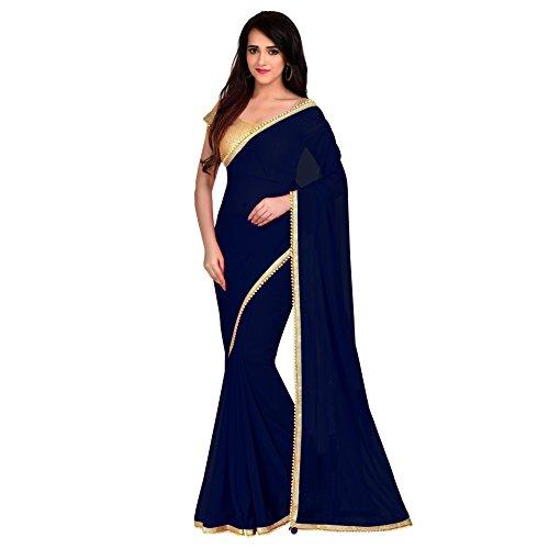 Viva N Diva Saree For Women's Navy Blue Color Georgette (Pakistani Bridal Lehenga)
