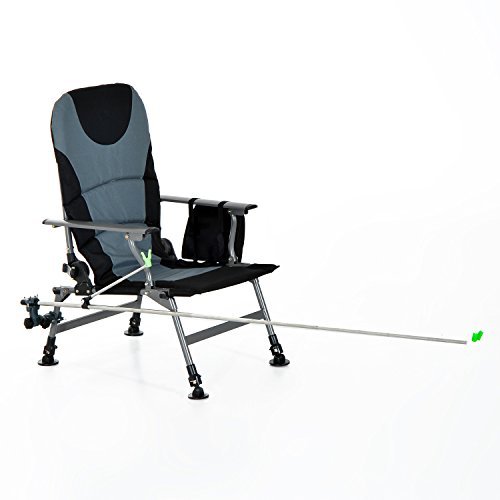 Outsunny folding portable fishing chair with rod holder for Walmart fishing pole holder