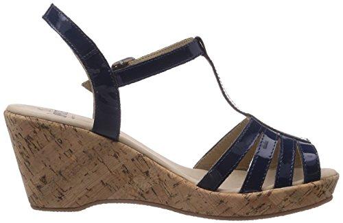 Caprice 28354 - Sandalias de vestir de cuero para mujer azul - Blau (OCEAN PATENT/899)