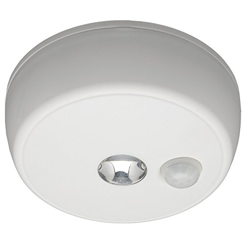 Mr. Beams MB980 Wireless Battery-Operated Indoor/Outdoor Motion-Sensing LED Ceiling Light, White
