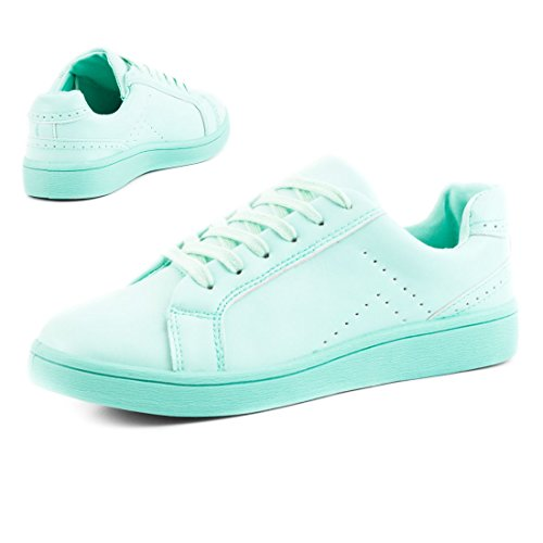 Verschiedenen Farben in Sneaker Schnür Trendige Color Mint Marimo Damen Super Vollfarbige 847q7T