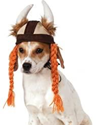 Rubies Costume Company Viking Hat with Braids for Pets, Mediu...