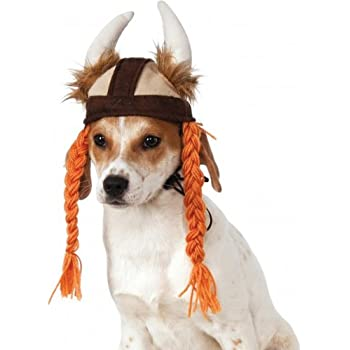 Rubies Costume Company Viking Hat with Braids for Pets, Medium/Large