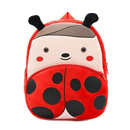 QBQCBB Children Baby Girls Boys Kids Cute Cartoon Animal Backpack Toddler School Bag(C,Freesize)