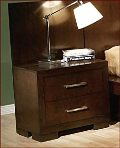 picture of Jessica 2-drawer Nightstand Cappuccino