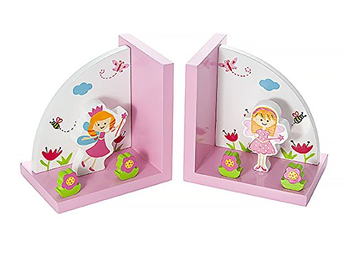 Kids Fairies Home Decor Themed Fairy Bookends for Girls Nursery or - Bookend Themed