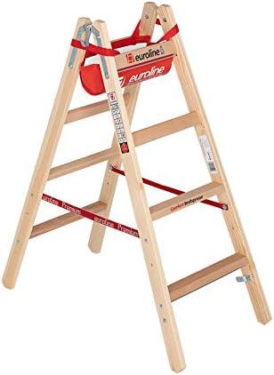 Escalera de madera de ancho Travesaños (2 x 4 peldaños: Amazon.es: Bricolaje y herramientas
