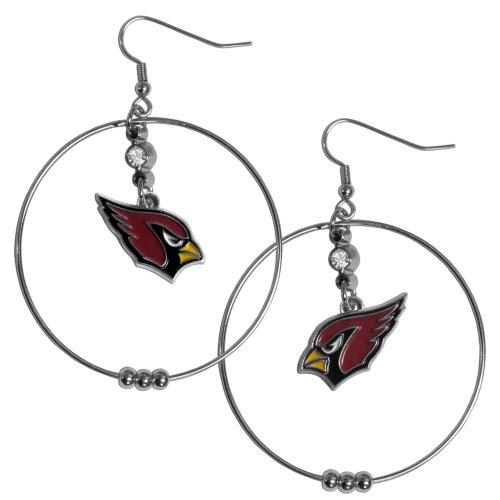 NFL Arizona Cardinals Hoop Earrings, 2-Inch