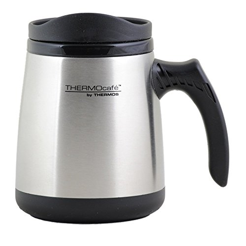 Thermos Thermocafe Stainless Steel Travel Mug 15 OZ (Silver)