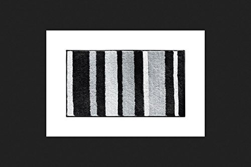 Spa Rug Blk Stripe 34x21