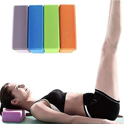 CapsA Yoga Fitness Block EVA Foam Brick Provide Stability Balance Lightweight Block for Exercise Pilates Workout Fitness Gym Training Workout Stretching Tool (Orange) : Sports & Outdoors