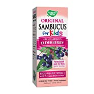 Nature's Way Sambucus Elderberry Syrup for Kids, Herbal Supplements, Gluten Free, Vegetarian