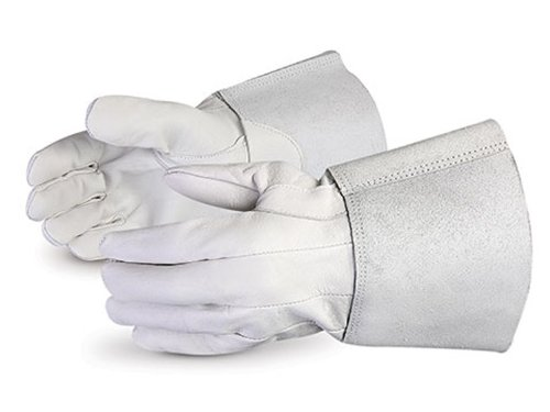 Superior 335PTIG Precision Arc Grain Pigskin Leather TIG Welders Glove, Work, X-Large, White (Pack of 1 Dozen)