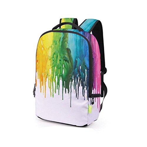 Kavitoz 3D Druck Rucksack Reise Rucksack leichte Schule Taschen Schulter Büchertasche (I) C