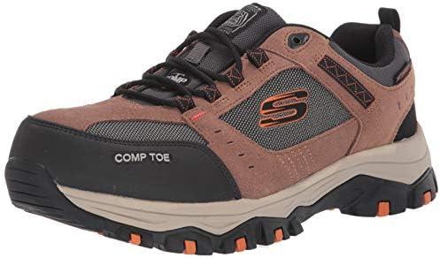 SKECHERS Men's Greetah Composite Toe Lace Up Work Shoes