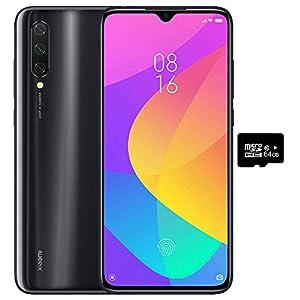 Xiaomi Mi 9 Lite (128GB, 6GB RAM) 6.39″ Display, Dual SIM GSM Factory Unlocked – US & Global 4G LTE International Version (Onyx Grey, 128GB + 64GB SD + Case Bundle)