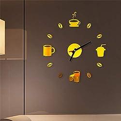FORUU 2019 Wall Stickers Decals Murals 3D DIY Roman Numbers Acrylic Mirror Wall Sticker Clock Home Decor Mural Under 5 Dollars Discount New Arrival