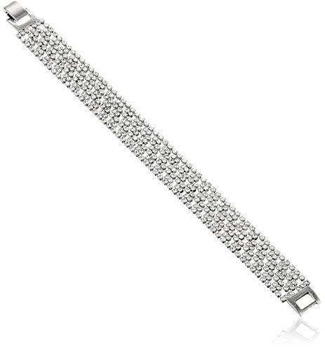 Oroclone Rhodium Plated 14.5mm Argyle Pattern Crystal Ten...
