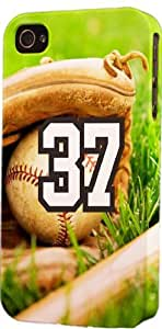 Baseball Sports Fan Player Number 37 Plastic Snap On Flexible Decorative Apple iphone 6 4.7 Case