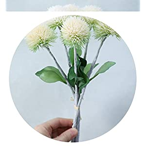 6Heads/Bunch Artificial Pompom Flower Ball for Home Wedding Decoration Flores Plastic Fake Flower Puffer Balls,B 57