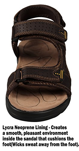 Shoes Athletic Leather Comfortable Sandals Brown 4how Men's Walking Outdoor qSvPOnRYxw