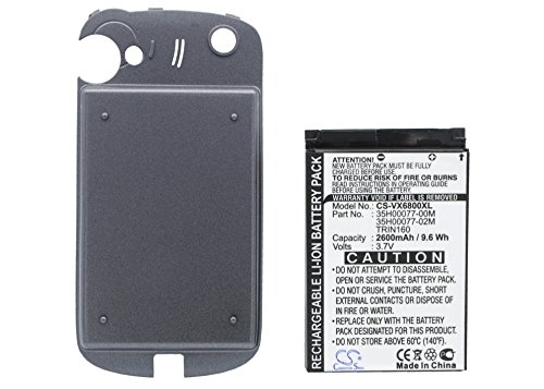 2600mAh Replacement Battery for AUDIOVOX 35H00077-00M 35H00077-02M TRIN160 HTC 35H00077-00M 35H00077-02M TRIN160 Sprint 35H00077-00M 35H00077-02M TRIN160 VERIZON 35H00077-00M 35H00077-02M TRIN160