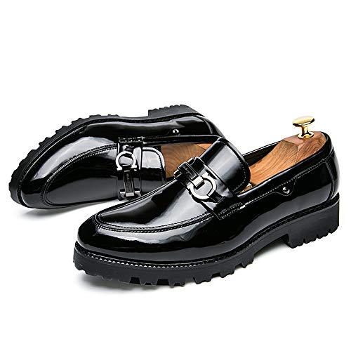 Soft 41 Hombre Patent Para Calzado color Cómodo Caminar Button On Rojo Oxford Negro Metal Tamaño Ligero De Slip Trabajo Ofgcfbvxd Leather Eu Mocasines Casual q47w1nnxz