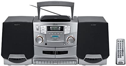 b2cc2285b5d Image Unavailable. Image not available for. Color  Sony CFD-ZW755 Portable  CD   Cassette   Radio Boombox ...