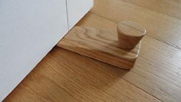 Solid Oak Lacquered Wooden Floor Door Wedge/ Stop: Amazon.co.uk ...
