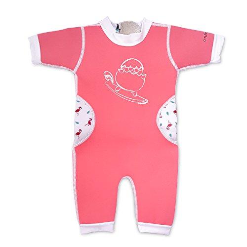 Warmiebabes-Baby, Toddler Thermal One Piece Kid Neoprene Swimwear, 18-30 Months, Pink