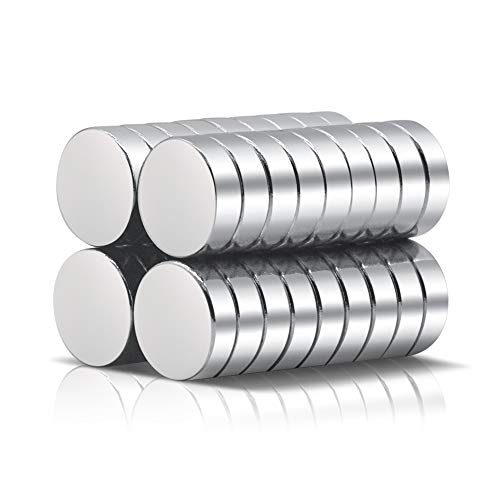 A AULIFE Refrigerator Magnets,36PCS Premium Brushed Nickel Fridge