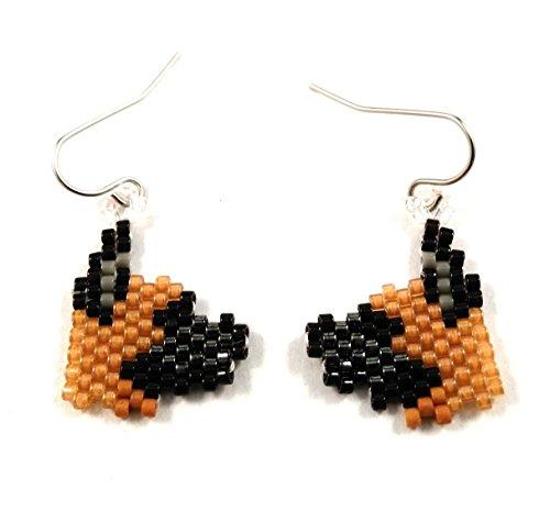 Great Dane Dog Seed Bead Earrings (Great Dane Dog Earrings)