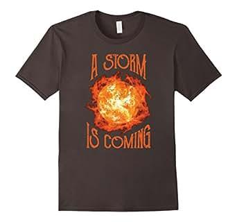 Men's A Storm is Coming Shirt 3XL Asphalt