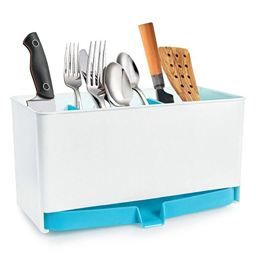 Multifunctional Plastic Caddy Drain Rack Storage Box Shelf D