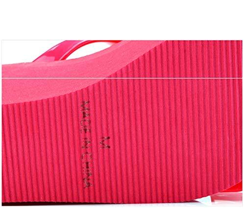 Pantoufles Et Talons Red 38 Taille Hauts Eu Pour Black color Dames Rosy xCUpwZqR