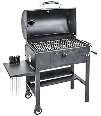 Blackstone 3-in-1 Kabob Charcoal Grill, Barbecue, Smoker, With Automatic Rotisserie by Blackstone