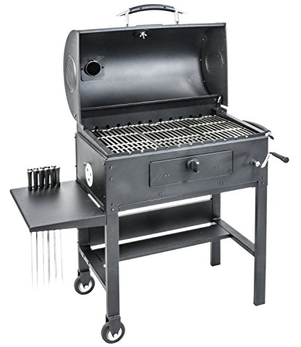 Blackstone 3-in-1 Kabob Charcoal Grill - Barbecue - Smoker - With Automatic...
