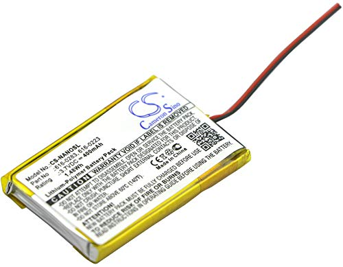 Replacement Battery for Apple iPod Nano 2GB iPod Nano 4GB iPod Nano MA004LL/A iPod Nano MA005LL/A iPod Nano MA099LL/A iPod Nano MA107LL/A Part NO 616-0223 616-0224 616-0283 Apple Mp3 Ipod Nano 4 Gb