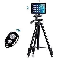 Professional Camera Tripod Mount Holder+Bluetooth Remote Shutter Controller for iPad mini 4/3/2 Retina/1-Black
