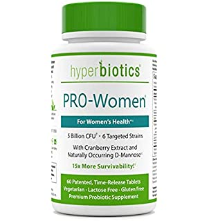 Hyperbiotics PRO-Women Probiotics 60 ct - Cranberry Extract D-Mannose - 15x More