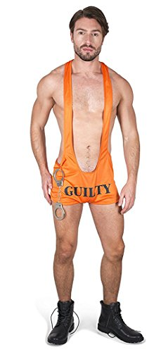 Sexy Halloween Costumes For Men (Karnival Men's Jail Bait Costume Set - Perfect for Halloween, Costume Party Accessory. Trick or Treating (XL))