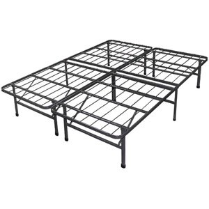 spa sensations steel smart base bed frame black size queen