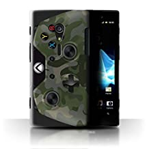 STUFF4 Phone Case / Cover for Sony Xperia ion LTE/LT28 / Green Camouflage Design / Gamer/Xbox One Collection