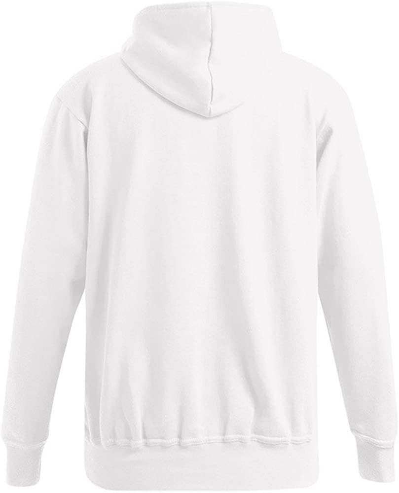 Promodoro Basic Hoodie 80-20 Plus Size Herren Weiß