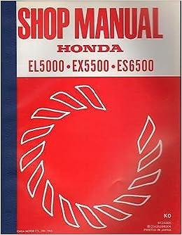 1983 honda generator el5000, ex5500, es6500 shop service manual.
