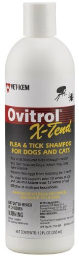 Ovitrol X-Tend Flea & Tick Shampoo 12 oz.