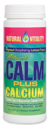 Natural Vitality Natural Calm plus Magnesium-Calcium Drink Raspberry Lemon 16 Ounce